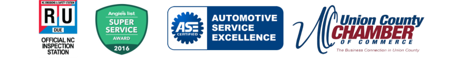 Official Inspection Station, NAPA Parts Auto Care Center, ASE Certified, Automotive Service Excellence Award.
